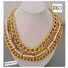 hermoso collar dorado de la Nahaula Art, diseñadora Oyuki Alvarez, Aguascalientes México!!