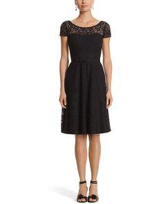 White House Black Market Lace Little Black Dress