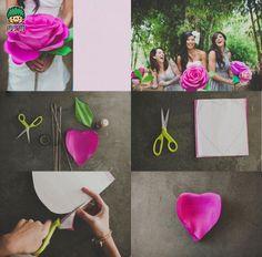 教你做超级漂亮的大纸玫瑰╭★肉丁网