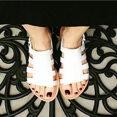 Melissa Boemia is a retelling of the gladiator sandal that explores multiple wide straps on the sides giving a more modern look to this new style.  #melissa