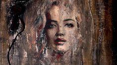 Decoupage Tutorial  Image Transfer on Canvas - Μεταφορά Εικόνας σε Καμβά...
