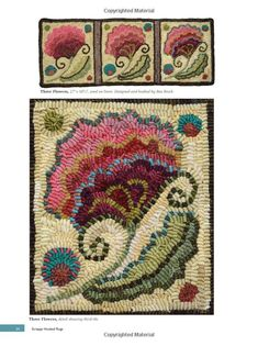 Scrappy Hooked Rugs: Making the Most of the Wool in Your Stash: Bea Brock: 9781881982951: Amazon.com: Books