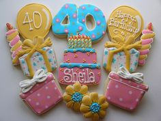 40th Birthday Cookies