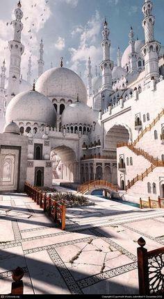 Islamic Mosque Such Beautiful Architecture