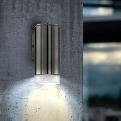 Applique d 39 ext rieur led cylindrique 2 lumi res noir h15 for Eclairage exterieur mural led
