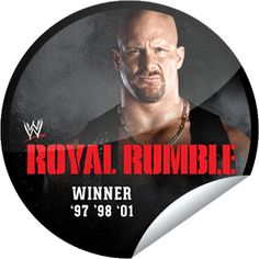 Steffie Doll's WWE Royal Rumble Winners Series: 'Stone Cold' Steve Austin Sticker | GetGlue