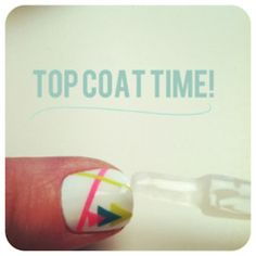 cool nail design with TAPE!