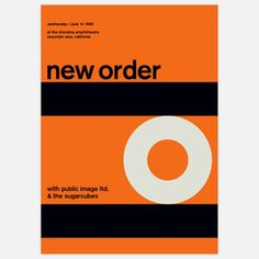 New Order minimalist concert poster
