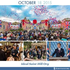Today the Church of Scientology celebrates the anniversary of the inauguration of the Ideal Saint Hill Org in East Grinstead, UK. It was on this extraordinary property that Scientology Founder L. Ron Hubbard's breakthrough discoveries in the 1960s opened the upper reaches of the Scientology Bridge to Total Freedom.