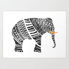 Endangered elephant Art Print by Farnell | Society6