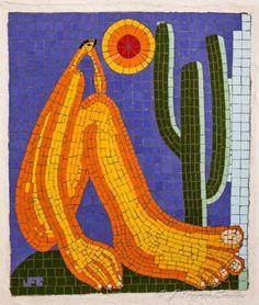 Abaporu (Tarsila do Amaral), mosaico com azulejos cerâmicos.