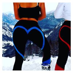 Heart Butt Booty Love Gym and yoga leggings - black, red, blue Yoga Leggings, Black Leggings, Squats, Wetsuit, Booty, Gym, Heart, Swimwear, Pants