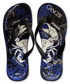 Musewear Unisex Cancer Zodiac Flip Flops - http://shoes.goshopinterest.com/mens/sandals-mens/musewear-unisex-cancer-zodiac-flip-flops/