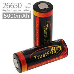 2017 NEW Genuine Original Trustfire 26650 Protected 5000mAh 3.7V Li-ion Rechargeable Battery 2PCS/LOT