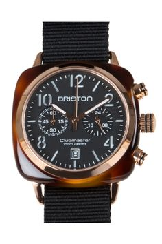 #briston #watch #chronograph date #tortoise #shell #rose # gold #pvd