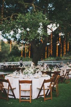 outdoor wedding reception idea; photo: Heidi Ryder