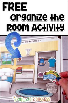 A FREE organization activity for kids and young adults. Students will cut out the items and place them in the correct spot in the room. This will help start the discussion about what it means to stay organized, neat, and tidy. The perfect way to introduce executive functioning skills with a hands-on learning activity for your kids and young adults. Hands On Learning, Learning Activities, Activities For Kids, Executive Functioning, Student Success, Young Adults, Staying Organized, Time Management, Students