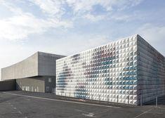 Aluminium Panels Open Like Flower Buds On Warehouse Facade By Brisac Gonzalez | IKEA Decoration