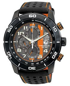 7633bcb2694 Citizen Men s Chronograph Eco-Drive Black Polyurethane-Coated Leather Strap  Watch 45mm CA0467-11H Jewelry   Watches - Watches - Macy s