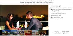 Prag:+3+Tage+auf+einer+4-Sterne-Design+Yacht+inkl.+Frühstück,+3+Gang+Abendmenü+und+einer+Flasche+Sekt+ab+69€+pro+Person Prague, Flasks, Viajes
