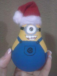 Lightbulb Minion Christmas Ornament