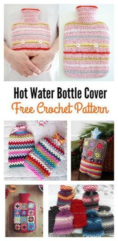 We have compiled a few Hot Water Bottle Cover Free Crochet Patterns and tutorials for making covers and cozies, so they're even more snuggle-friendly. Crotchet Patterns, Crochet Patterns For Beginners, Crochet Tutorials, Crochet Ideas, Crochet Decoration, Crochet Home Decor, Crochet Gratis, Free Crochet, Learn Crochet
