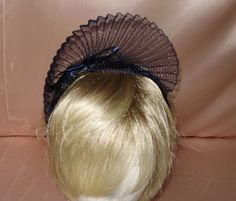 Lovely  New Navy Blue  Fascinator on a  satin  Headband   This lovely fascinator is available in my  Ebay  store  kringle3  Please see all my unique items in my store .