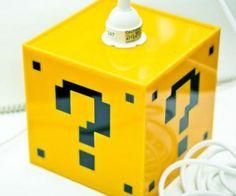 Mario Question Mark Block Lamp