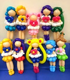 Sailor moon and friends Balloon Toys, Balloon Hat, Balloon Crafts, Balloon Decorations Party, Balloon Animals, Balloon Ideas, Sailor Moon Birthday, Sailor Moon Party, Princess Balloons
