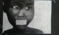 Charcoal and pen sketch-African boy- topic: emotional drama Pen Sketch, Artworks, Charcoal, Drama, African, Portrait, Headshot Photography, Dramas, Portrait Paintings