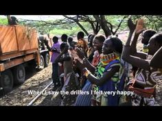 """""""Water is life"""": East Africa food crisis one year later. Thanks to generous public support, Oxfam was able to drill a new borehole, bringing clean water to a village in Turkana, Kenya."""