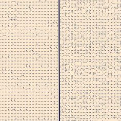 Punctuation in novels — Adam J Calhoun. Punctuation in Blood Meridian by Cormac McCarthy (left) and in Absalom, Absalom! by William Faulkner (right). William Faulkner, Famous Novels, Famous Books, Blood Meridian, Beautiful Posters, Fiction Writing, Classic Books, Data Visualization, Roman