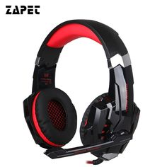 Moonliness Wired LED Light Headphones Gaming Headset Deep Bass Stereo Computer Game Headphone with Mic Professional Gamer Gaming Headphones, Gaming Headset, Gaming Computer, Headphone With Mic, Surround Sound, Video Game Console, Consumer Electronics, Usb, Laptop