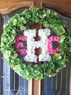 Baby Girl Howard is now Eleanor Clare (Ellie) so I updated her wreath. : )  #monogramwreath #customwreath