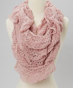 Take a look at this The Accessory Collective Blush Zigzag Infinity Scarf on zulily today!
