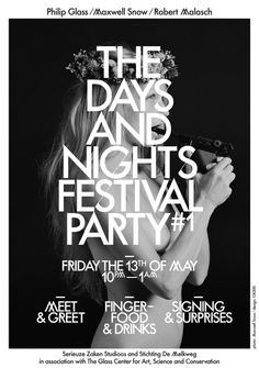 the days and nights festival party#poster #typography