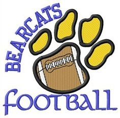 Bearcats Football embroidery design
