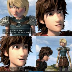 Hiccup's feelings are different of what he says