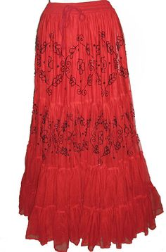 Romantic Long Gypsy or Spanish Style Boho Chic by AnnNEveleather, $439.00