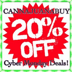 20% OFF EVERYTHING @cannajuanabuy! #CyberMonday #Vaporizers #StashJars #Hookahs #Pipes http://www.cannajuanabuy.com/cjb-featured-product/
