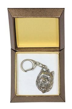 NEW, Cairn Terrier (front), dog keyring, key holder, in casket, limited edition, ArtDog -- To view further for this item, visit the image link.