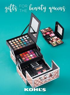 Any good beauty queen knows that there's no such thing as too much makeup. Give the beautiful lady on your gift list the makeup sets that give her enough to experiment with all year. Featured product includes: The Color Institute 69-piece color explosion train case makeup set and 45-piece beauty balance professional makeup compact. Get gorgeous with Kohl's.