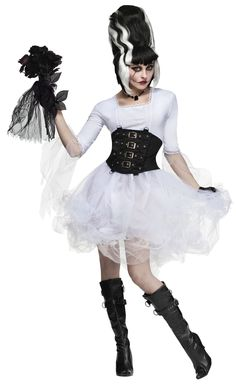 This sexy monster bride costume was made especially with a fun Halloween party in mind. From our Halloween Costumes range. Bride Of Frankenstein Halloween Costume, Halloween Costumes For Sale, Sexy Adult Costumes, Scary Costumes, Costumes For Women, Frankenstein Bride, Halloween Customs, Halloween Couples, Movie Costumes