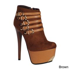 DimeCity Women's 'Chambly' Heels Ankle Boots | Overstock.com Shopping - Big Discounts on DimeCity Booties