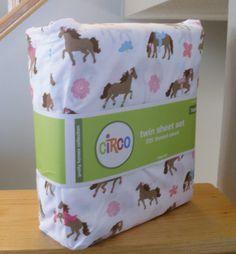 New Circo Pretty Horses Full Size Sheet Set Girl Horse Print Bed Bedroom Pony | eBay