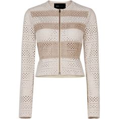 BCBGMAXAZRIA Dollce Color-Blocked Faux-Suede Jacket (20.635 RUB) ❤ liked on Polyvore featuring outerwear, jackets, white zip jacket, peplum zip jacket, white jacket, retro jackets and bcbgmaxazria