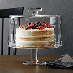 Cool Kitchen Gadgets, Kitchen Items, Cool Kitchens, Kitchen Decor, Cake Stand With Dome, Cake Dome, Cupcake Stands, Tiramisu Dessert, Glass Cakes