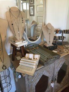 Lisa Jill Jewelry display at The Urban Farmhouse in Milton Georgia
