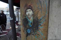 """C215 Vitry sur seine """"autoportrait""""  more here: https://360bylaurentjacquet.wordpress.com/2014/08/27/c215-lame-de-vitry/ #streetart #c215 #vitry"""