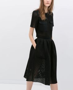Image 3 of FLARED STUDIO SKIRT from Zara